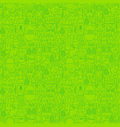 Easter green seamless pattern vector