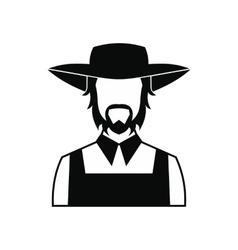 Farmer icon black vector