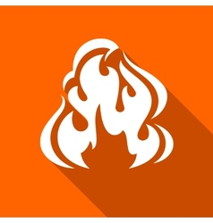 Fire flames set vector image vector image