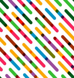 Flat background with colorful diagonal lines vector