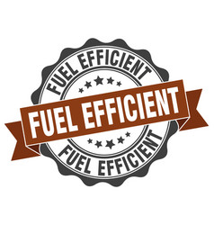 Fuel efficient stamp sign seal vector