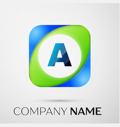 Letter a logo symbol in the colorful square vector