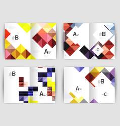 Minimal square mosaic cover design templates vector