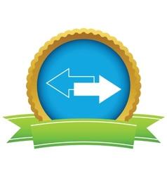 New gold reverse logo vector
