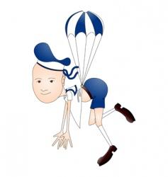 parachute boy vector image vector image