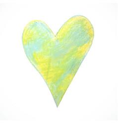Pastel-heart-green vector