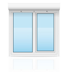 Plastic window with rolling shutters 02 vector