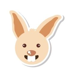 rabbit animal farm isolated icon vector image vector image