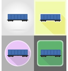 Railway transport flat icons 07 vector