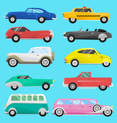 Retro vintage old style car vehicle automobile vector