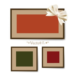 Set of photo frames on the wall vector image vector image