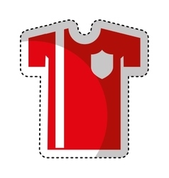 shirt uniforn team isolated icon vector image