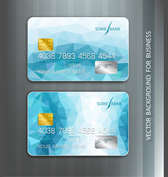templates credit cards with blue abstract pattern vector image