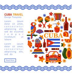 travel banner cuba havana vector image