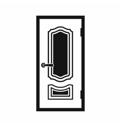 White door icon simple style vector image