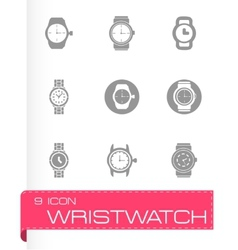 wristwatch icon set vector image
