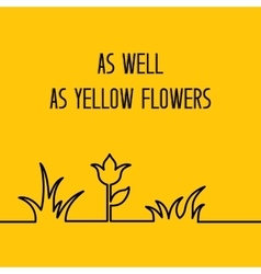 Yellow floral background vector