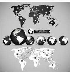 World map and globe vector