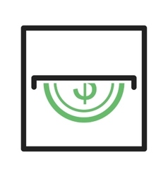 Slot for coins vector