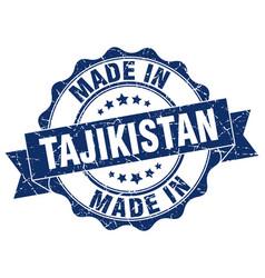Made in tajikistan round seal vector