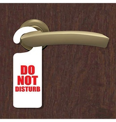 Do not disturb sign with door handle and wooden vector