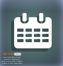 Calendar date or event reminder icon symbol on the vector