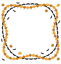 hallowen frame vector image