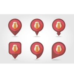 Goose mapping pins icons vector