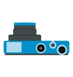 Blue camera flat icon vector image