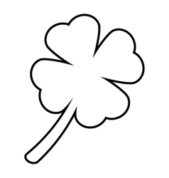 Leaf clover line icon vector
