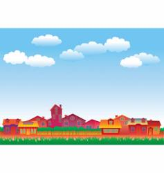 Multicolor houses vector