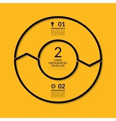 Infographic circle template with 2 steps vector