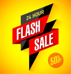24 hour sale banner vector