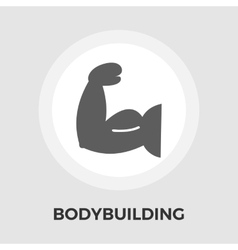 Bodybuilding flat icon vector