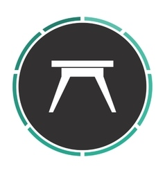 Camping table computer symbol vector