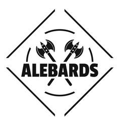 alebard logo simple black style vector image vector image