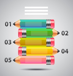 Art infographics with colorful pencils vector image