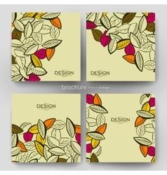 Autumn leaf ornament brochure template vector