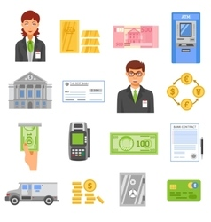 Bank Isolated Color Icons vector image vector image