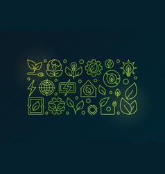 bioenergy outline vector image