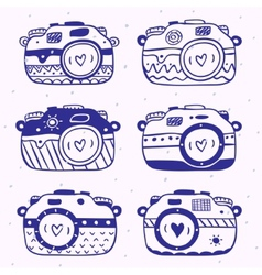 camera set vector image