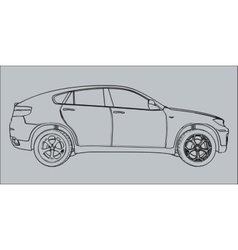 Car silhouette on a gray background vector image vector image