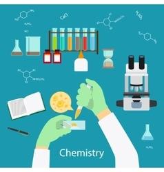 Chemistry laboratory concept vector