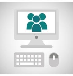 computer network desktop group vector image