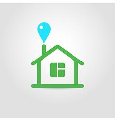 Eco house icon 02 vector image vector image