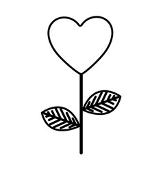 figure heart balloon plant icon vector image vector image