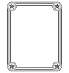 frame in grey colours vector image