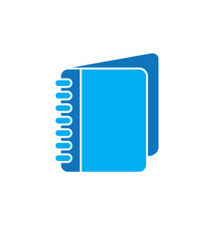 notebook logo design vector image vector image