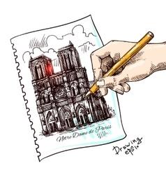 Notre Dame de Paris vector image vector image