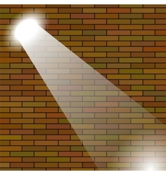 Orange Brick Wall vector image